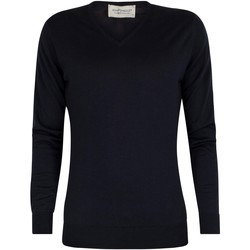 Clothing Men Jumpers John Smedley Bobby V-Neck Knit blue