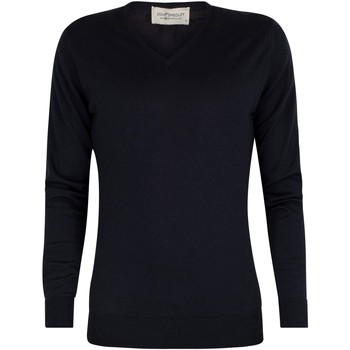 Clothing Men jumpers John Smedley Men's Bobby V-Neck Knit, Blue blue
