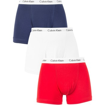 Clothing Men Trunks / Underwear Calvin Klein Jeans Men's 3 Pack Trunks, Multicoloured multicoloured