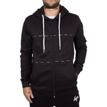 Clothing Men sweatpants Hype Men's Taping Panel Logo Zip Hoodie, Black black