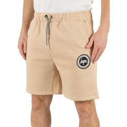 Clothing Men Shorts / Bermudas Hype Men's Crest Logo Shorts, Brown brown
