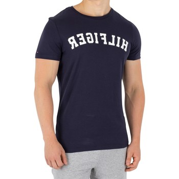 Clothing Men Short-sleeved t-shirts Tommy Hilfiger Arched Logo T-Shirt blue