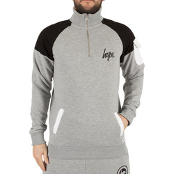 Clothing Men Track tops Hype Men's Docker Logo Zip Sweatshirt, Grey grey