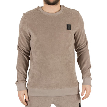 Clothing Men jumpers Religion Men's Pool Loopback Terry Logo Sweatshirt, Brown brown