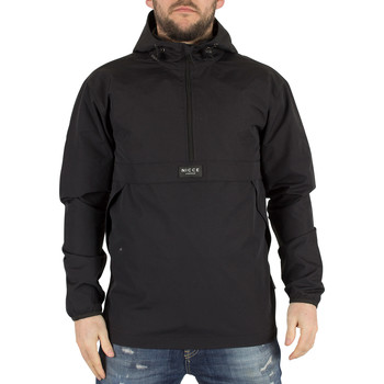 Clothing Men Jackets Nicce London Men's Zip Logo Kagoule Jacket, Black black