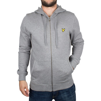 Clothing Men sweatpants Lyle & Scott Men's Zip Logo Marled Hoodie, Grey grey