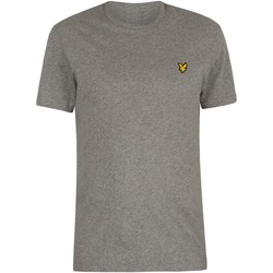 Clothing Men Short-sleeved t-shirts Lyle & Scott Logo T-Shirt grey