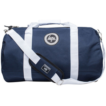 Bags Men Luggage Hype Men's Badge Logo Holdall Bag, Blue blue