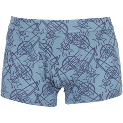Clothing Men Trunks / Underwear Vivienne Westwood Men's All Over Logo Pattern Trunks, Blue blue