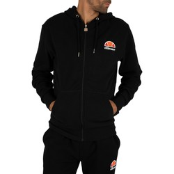 Clothing Men Sweaters Ellesse Miletto Zip Logo Hoodie black