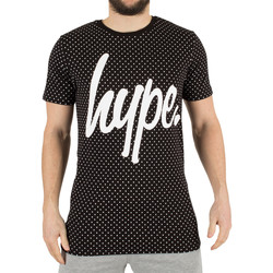 Clothing Men short-sleeved t-shirts Hype Men's Polka Dot Graphic T-Shirt, Black black