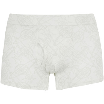 Clothing Men Trunks / Underwear Vivienne Westwood Men's Faint All Over Logo Pattern Trunks, White white