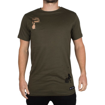 Clothing Men short-sleeved t-shirts Hype Men's Ripped Body T-Shirt, Green green