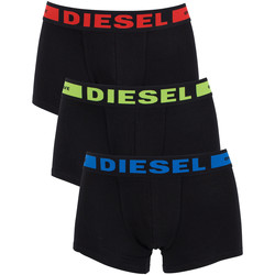 Clothing Men Trunks / Underwear Diesel Men's 3 Pack Seasonal Boxer Logo Trunks, Black black