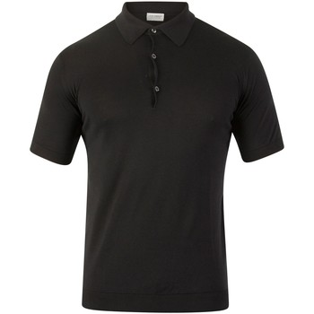 Clothing Men short-sleeved polo shirts John Smedley Adrian Plain Polo Shirt black