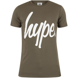 Clothing Men short-sleeved t-shirts Hype Men's Basic Graphic Logo T-Shirt, Green green