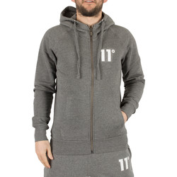 Clothing Men sweaters 11 Degrees Men's Core Zip Logo Hoodie, Grey grey