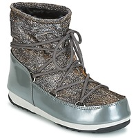 Shoes Women Snow boots Moon Boot MOON BOOT WE LOW LUREX Grey / Silver