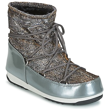 Shoes Women Snow boots Moon Boot MOON BOOT LOW LUREX Grey / Silver