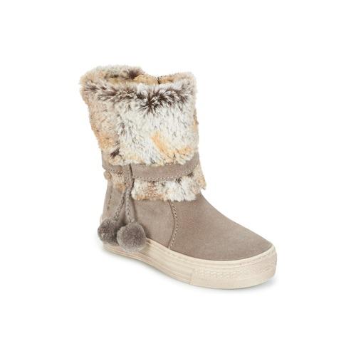 Shoes Girl Mid boots Primigi PSA 8164 Grey / Pink