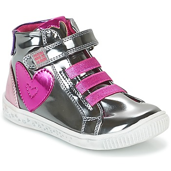 Shoes Girl Hi top trainers Agatha Ruiz de la Prada FLOW Silver