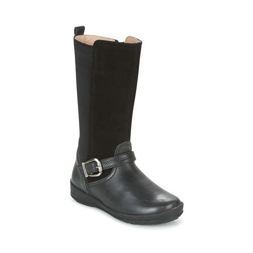 Shoes Girl High boots Garvalin NEW FLORES Black