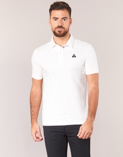 Clothing Men short-sleeved polo shirts Le Coq Sportif LCS TECH POLO White
