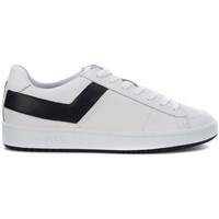 Shoes Men Trainers Pony Sneaker  in black and white leather White