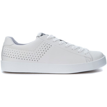 Shoes Men Trainers Pony Sneaker  in white leather with pierced decoration White