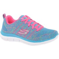 Shoes Girl Low top trainers Skechers High Energy Lace Girls Sports Trainers blue