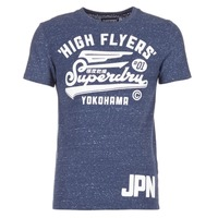 Clothing Men short-sleeved t-shirts Superdry HIGH FLYERS REWORKED MARINE