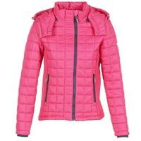 Clothing Women Duffel coats Superdry FUJI BOX QUILTED Pink