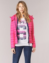 Clothing Women Duffel coats Superdry FUJI BOX QUILTED Pink