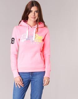 Clothing Women sweatpants Superdry VINTAGE LOGO STRIPE FADED Pink