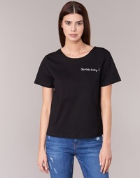 Clothing Women short-sleeved t-shirts Moony Mood GORDY Black