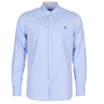Clothing Men long-sleeved shirts U.S Polo Assn. CALE Blue