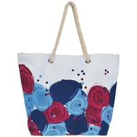 Bags Women Pouches / Clutches Mora Mora Sac Flor Bleu Blue