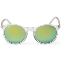 Watches Men Sunglasses Cheapo Swamis Sunglasses - Transparent / Silver Mirror White