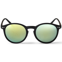 Watches Men Sunglasses Cheapo Mavericks Sunglasses - Black / Green Yellow Mirror Black