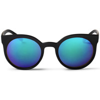 Watches Men Sunglasses Cheapo Padang Sunglasses - Black / Blue Mirror Black