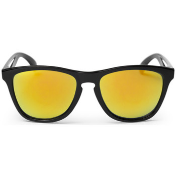 Watches Men Sunglasses Cheapo Bodhi Sunglasses - Black / Yellow Mirror Black