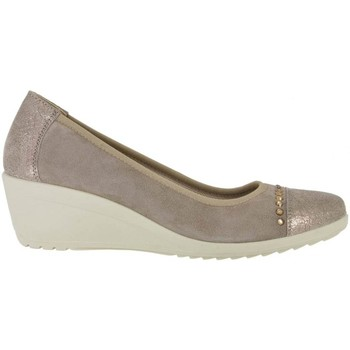 Shoes Women Loafers Enval 7939 Mocassins Women Beige Beige
