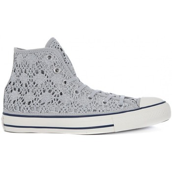 Shoes Hi top trainers Converse ALL STAR HI  CROCHET Argento