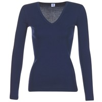 Clothing Women Long sleeved tee-shirts Petit Bateau LEOSA MARINE