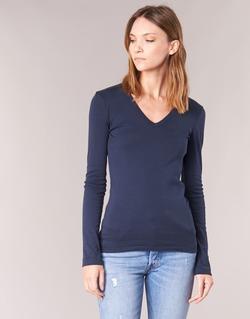 Clothing Women Long sleeved tee-shirts Petit Bateau LEOSA Marine