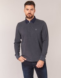 Clothing Men long-sleeved polo shirts Gant THE ORIGINAL HEAVY RUGGER Grey