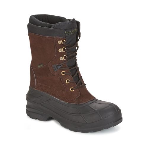 Shoes Men Snow boots KAMIK NATION PLUS Brown / Dark