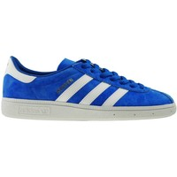 Shoes Men Low top trainers adidas Originals Munchen Golden-Blue-White
