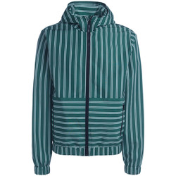 Clothing Men Jackets Msgm white/green striped coat Green