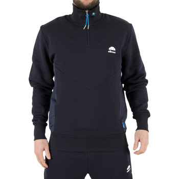 Clothing Men Track tops Ellesse Men's Bertini Funnel Zip Sweatshirt, Blue blue